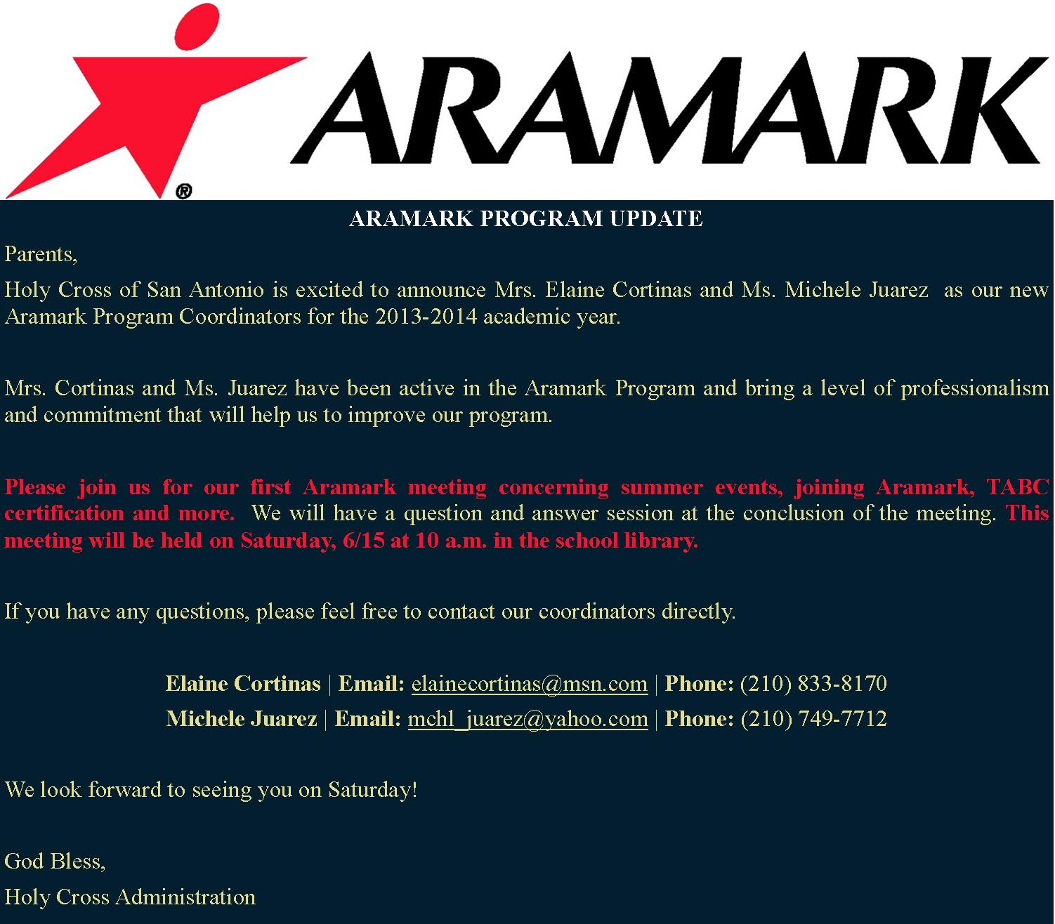June 2013 hc blog aramark notification xflitez Images