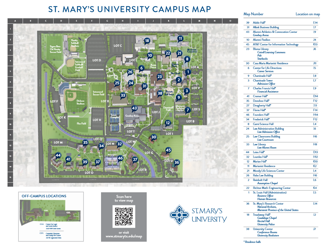 st-marys-campus-map