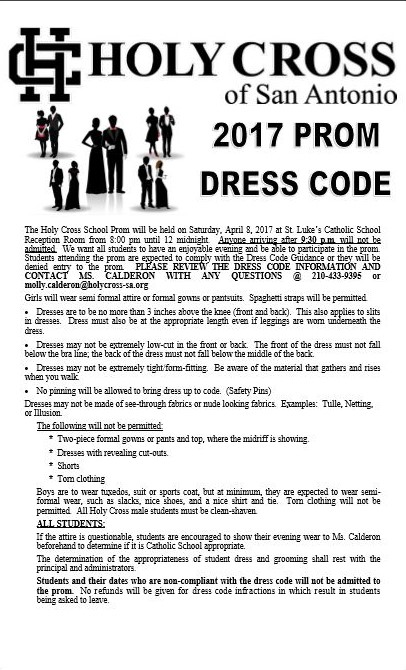 Prom Dress Code 2017
