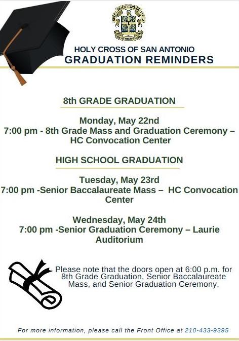 2017 Graduation Dates